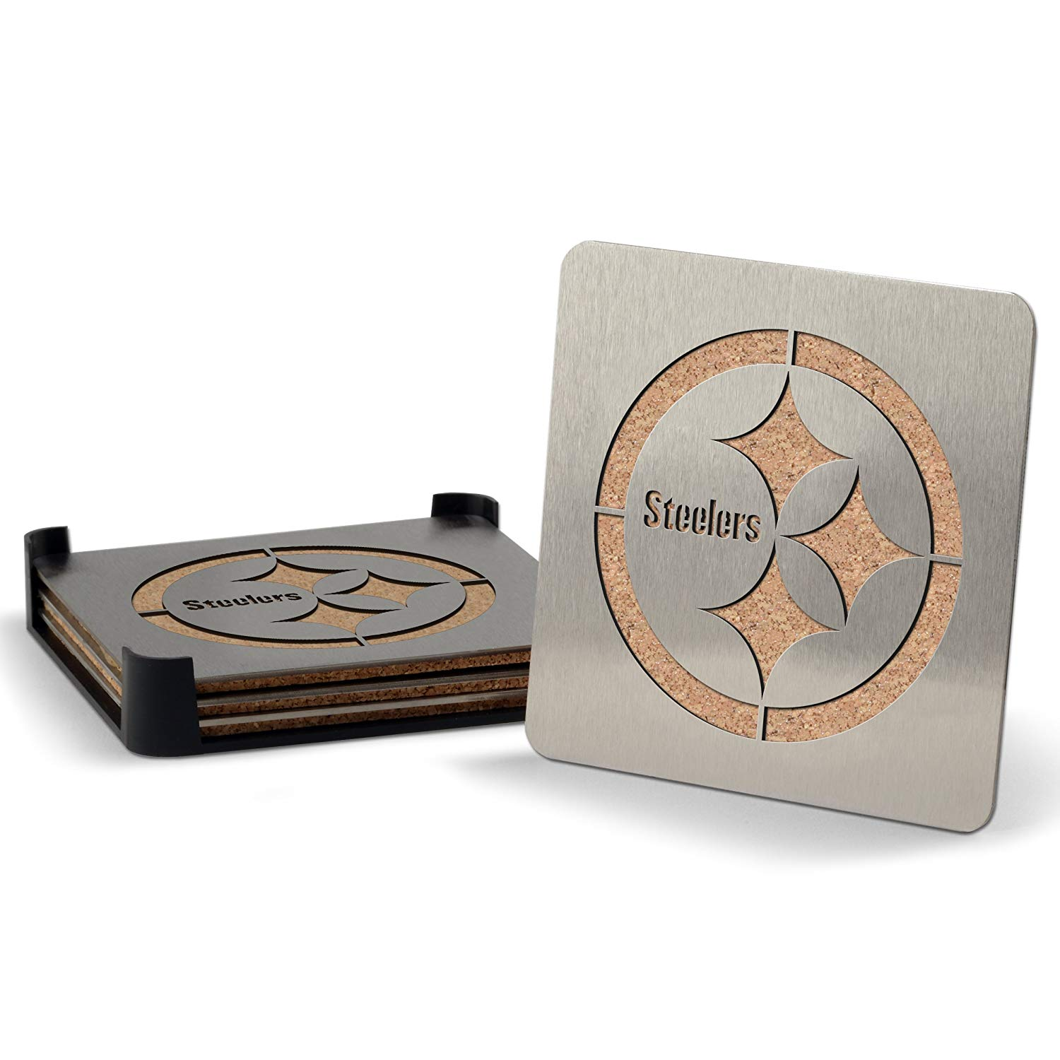 Steelers Stainless Steel Coasters