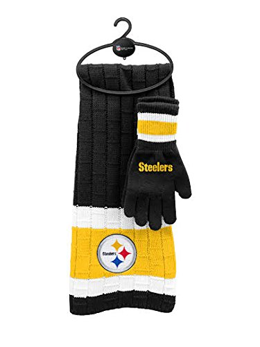 Steelers Scarf Gloves Gift Set