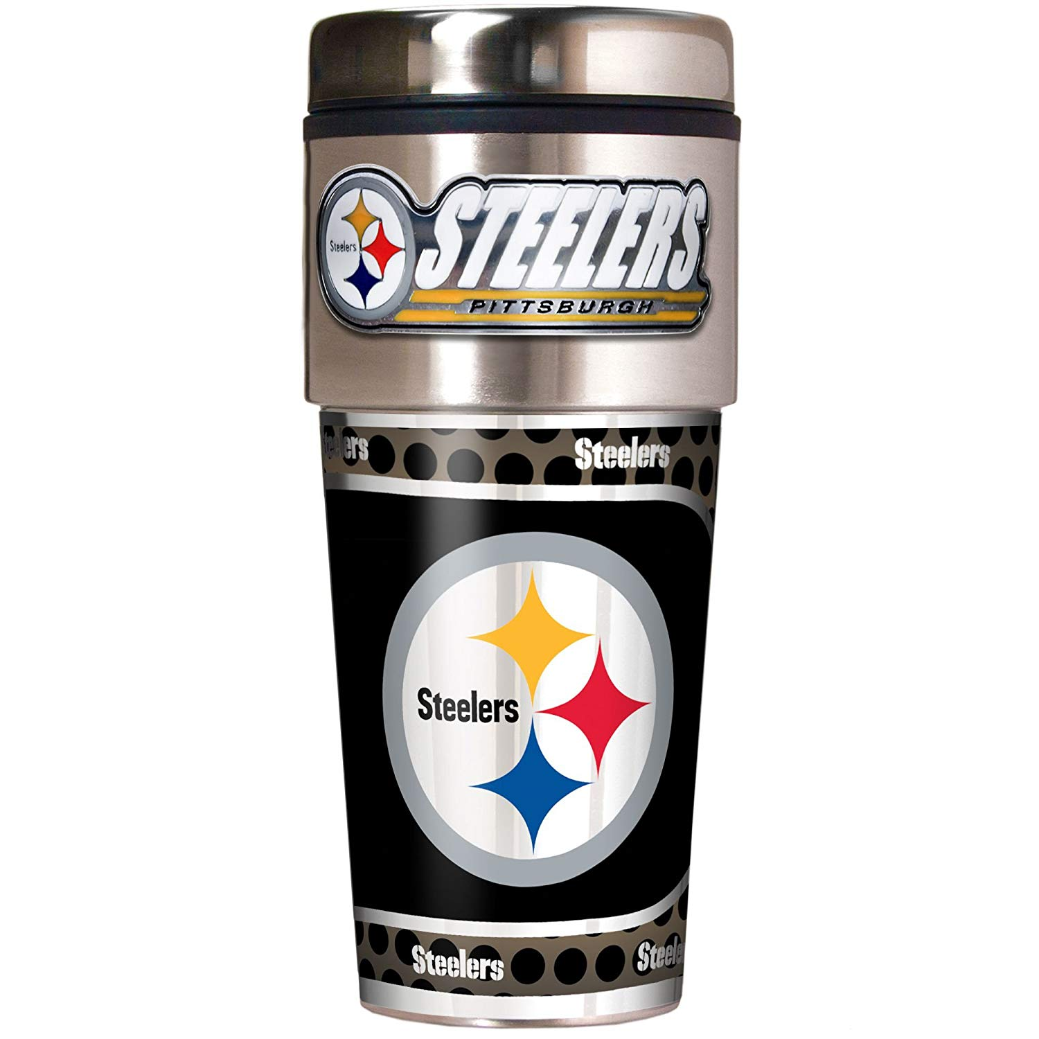 Steelers Metallic Travel Tumbler