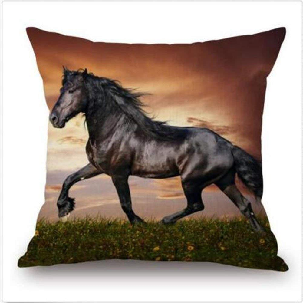 Horse Pillow With Cushion Cover