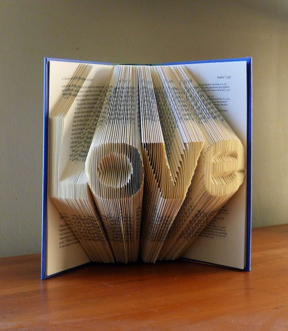 LOVE Altered Book