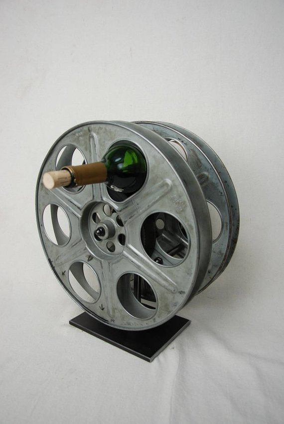 Movie Film Reel Wine Rack
