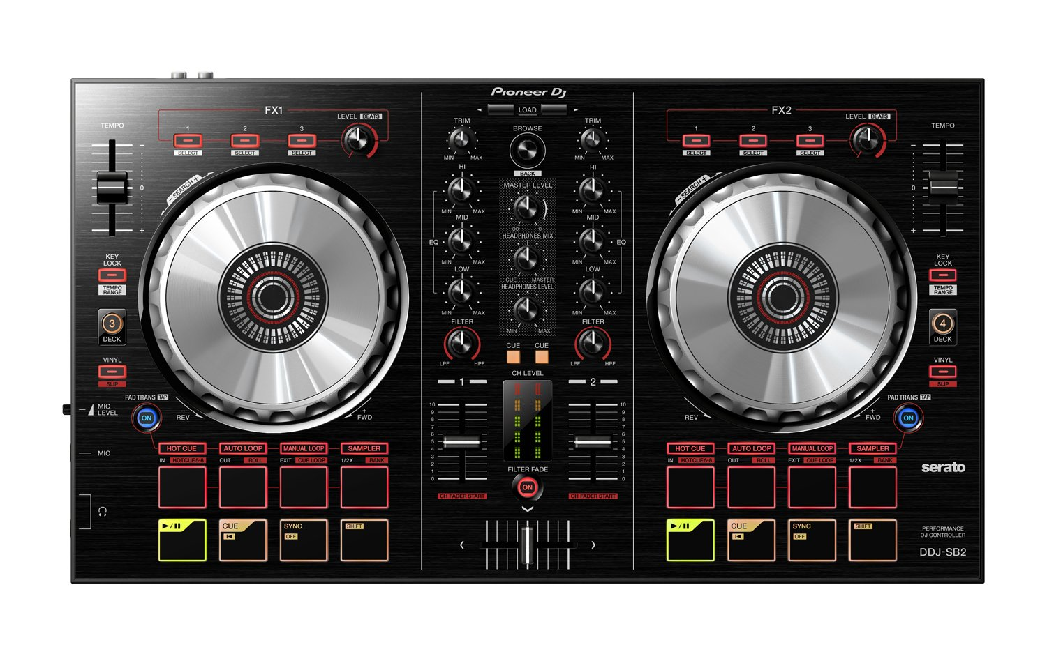DJ Portable 2-​Channel​ Controller