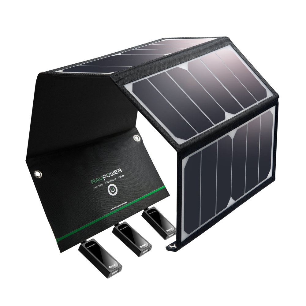 Solar Charger  with 3 USB Ports