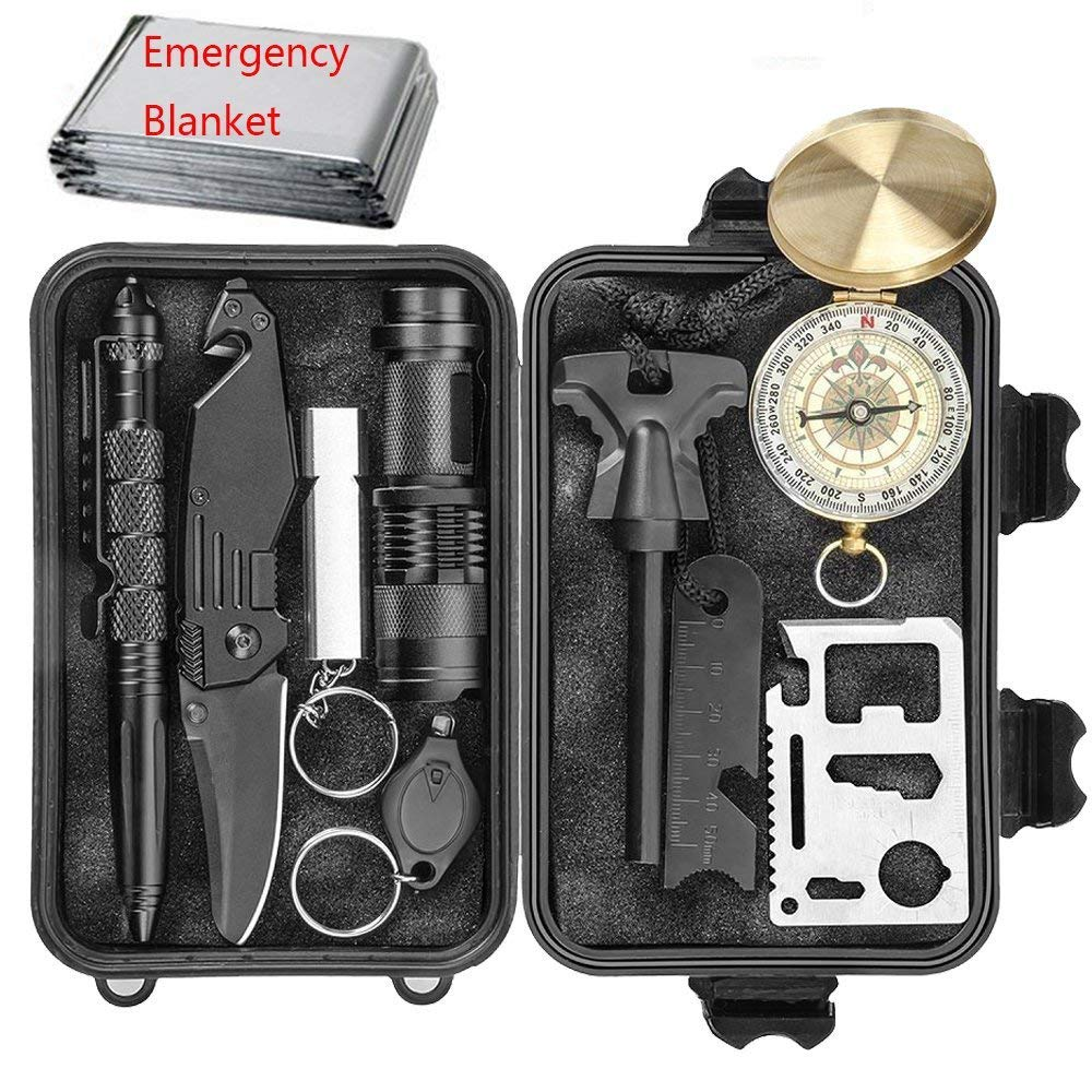 EILIKS Emergency Survival Kits 11 in 1, CHANGKU Multi Professional Tactical Kit