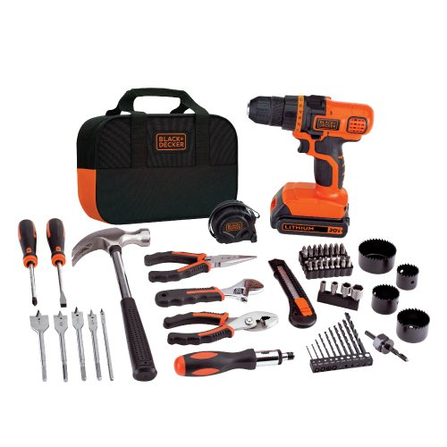 BLACK+DECKER 20V MAX Drill & Home Tool Kit, 68 Piece