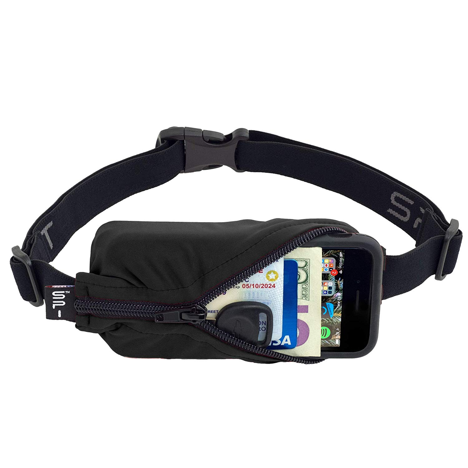 No-Bounce Waist Bag for Runners Athletes Men and Women