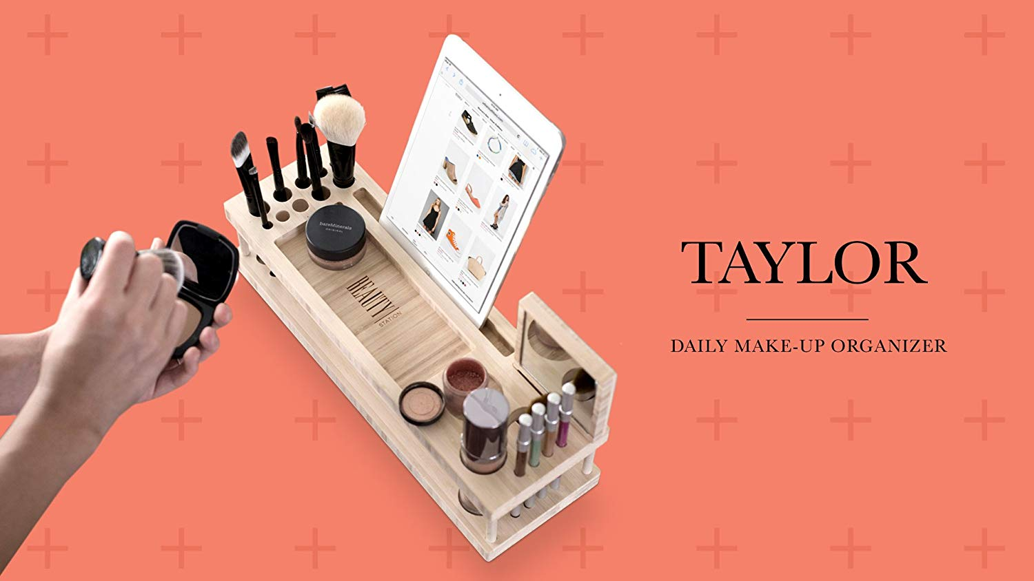 Daily Makeup Organizer with Mirror