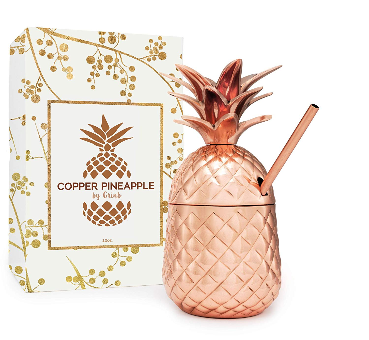 Purchase this Solid Copper Pineapple Tumbler
