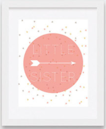 the Little Sister Wall Art Print