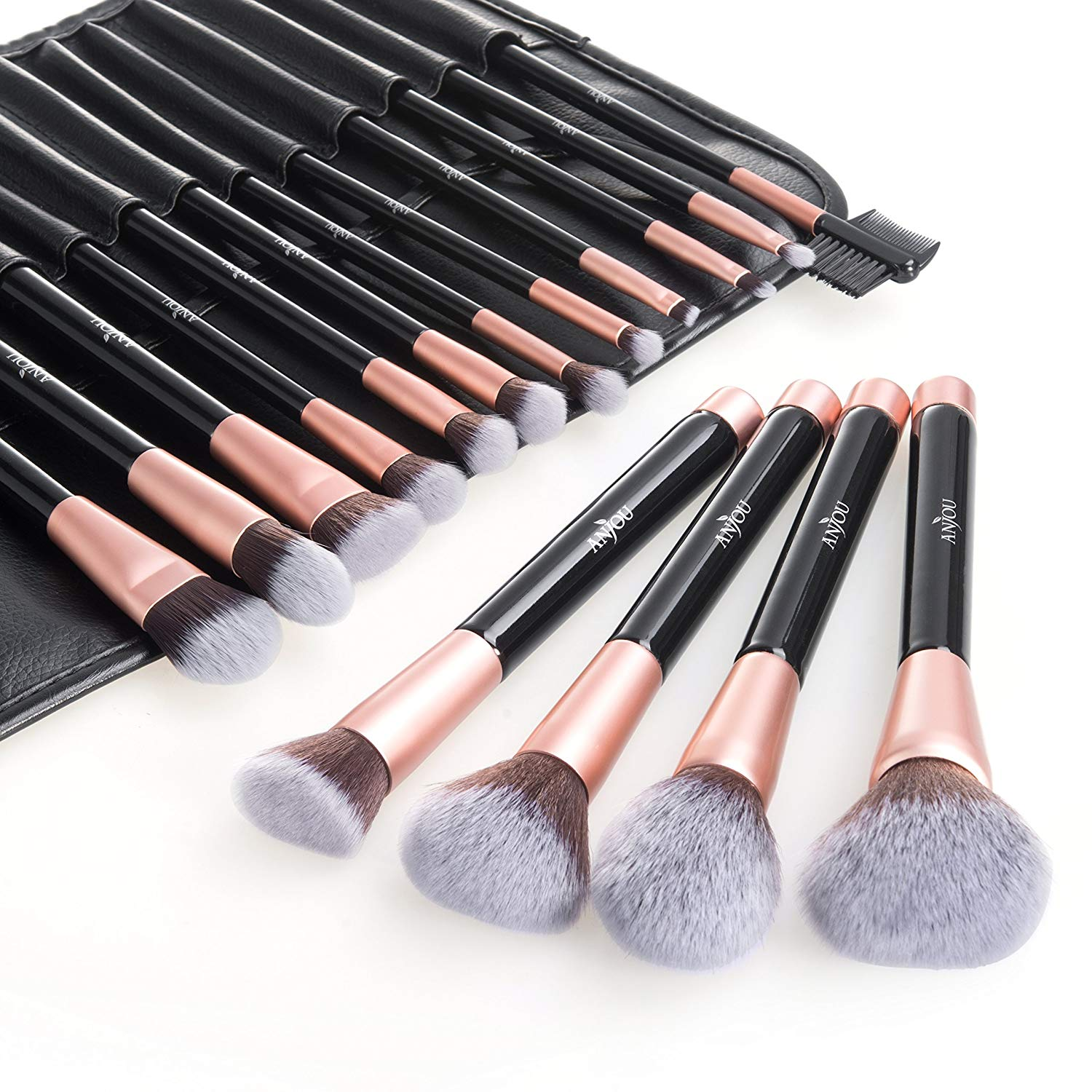 Anjou 16 pieces make up brush set