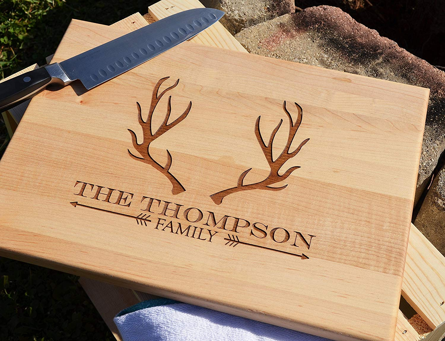 Personalized Engraved Wooden Cutting Board