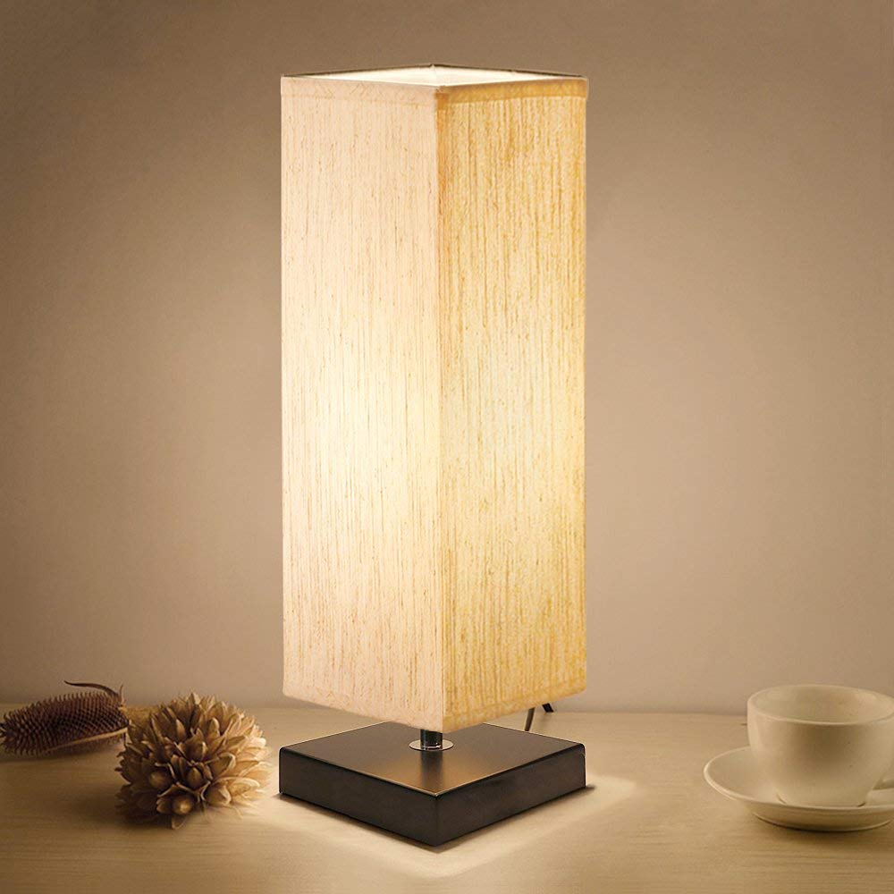 Bedside Solid Wood Table Lamp