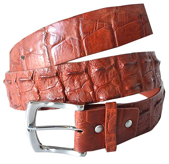 River Crocodile Skin Men's Belt