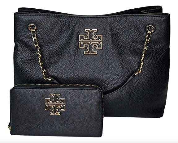 Tory Burch Britten Tote Bag And Wallet