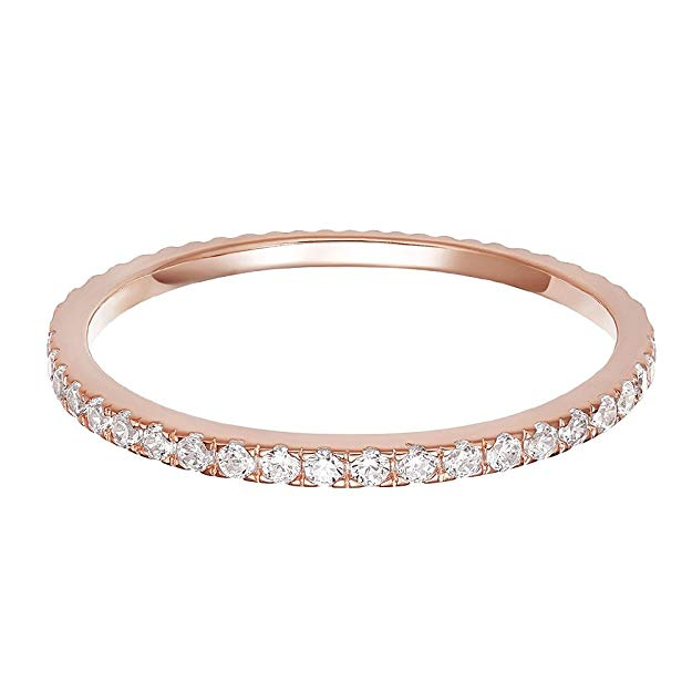 PAVOI Gold Plated Eternity Bands