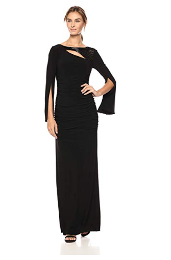 Adrianna Papell Women Long Jersey Dress