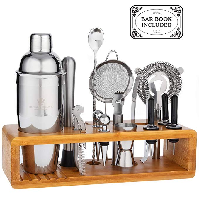Mixology Cocktail Shaker Set by Royal Reserve
