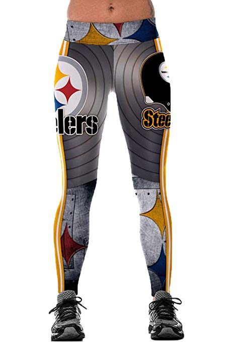 Steelers Woman's Digital Print Elastic Tights Leggings