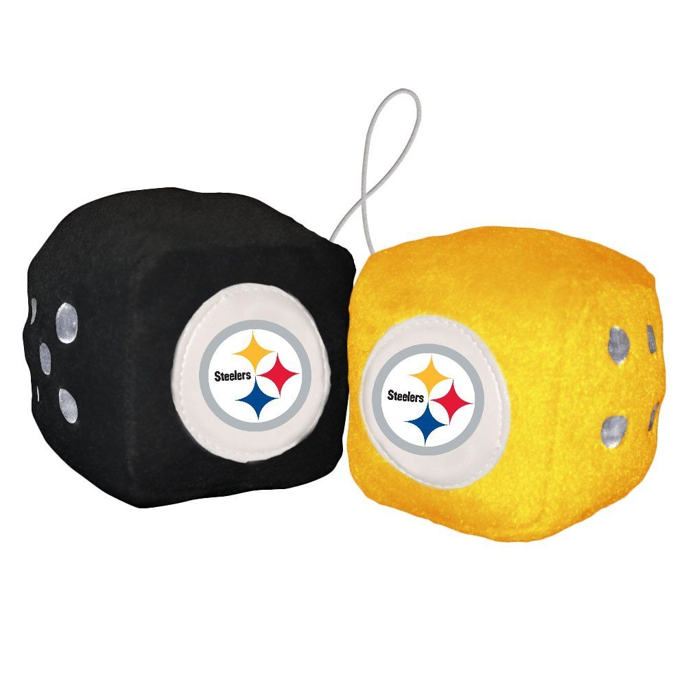 Steelers Fuzzy Dice