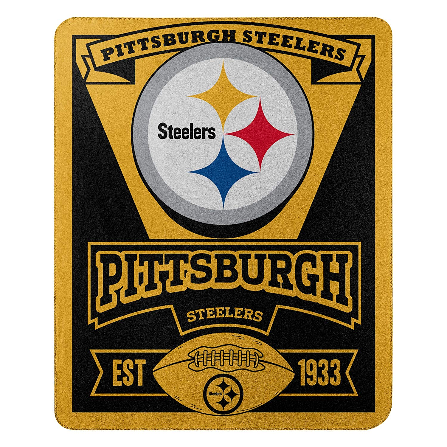 "Steelers NFL ""Marquee"" Printed Fleece Throw Blanket"