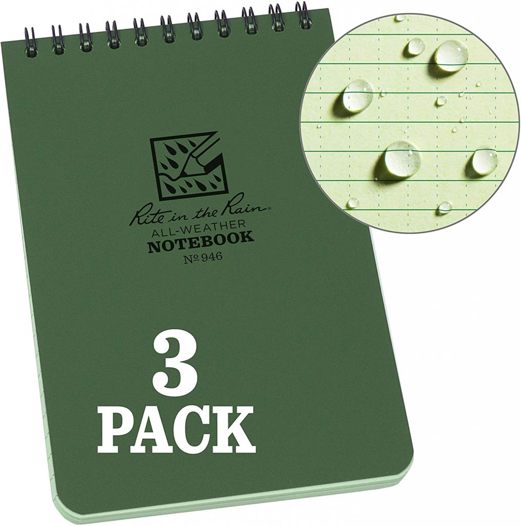 Weatherproof Spiral Notebook
