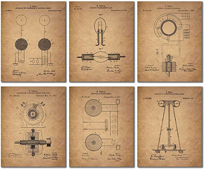 Tesla Vintage Wall Art Prints