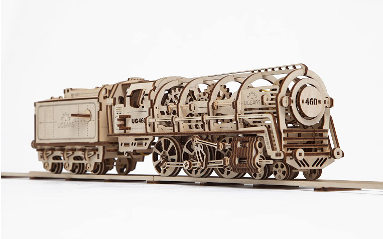 UGears Self Assembling Locomotive 3D Model